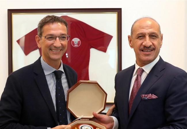 درجال: أبرمنا في الدوحة اتفاقاً سينهض بمستقبل الكرة العراقية