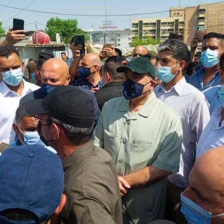 السيد عادل عبد المهدي يشارك في تشييع شهداء الحشد الشعبي