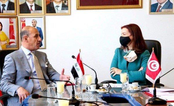 بحث التعاون الرياضي بين تونس والعراق