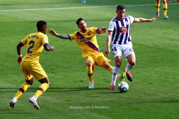 برشلونة يواصل ملاحقة ريال مدريد بفوز صعب على بلد الوليد