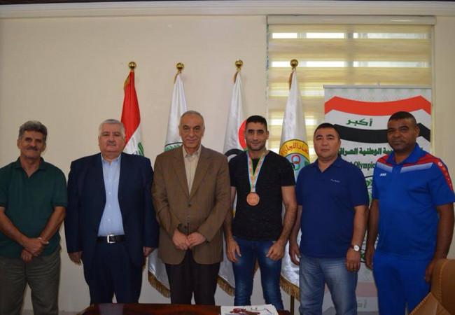 حمودي يلتقي مدير العلاقات التأسيسية للجنة الدولية
