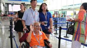 معمرة صينية 101 عام تنهي رحلة بحرية مدتها 5 أيام إلى اليابان