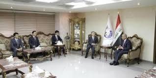 وزير النقل يبحث مع السفير الكوري امكانية تبادل الخبرات لتطوير الموانئ العراقية