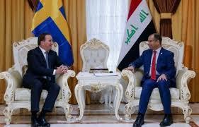الجبوري لرئيس وزراء السويد: معركة تحرير نينوى من أهم المعارك ضد الإرهاب