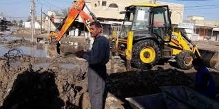 حملة لتصليح انابيب شبكة الماء والغاء التجاوزات غير النظامية في محافظة ديالى