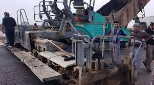 شركة حمورابي تواصل اكساء طبقة الاساس القيري لمشروع طريق كوت بدرة – مهران