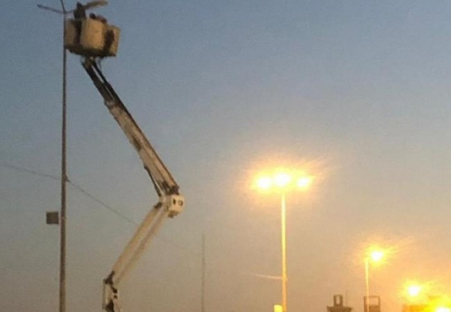 كهرباء بغداد تعيد تاهيل انارة شارع الجمهورية