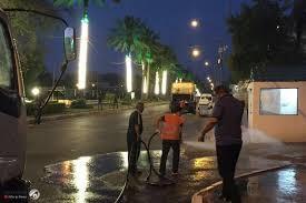 تزيين أحد أبرز شوارع بغداد