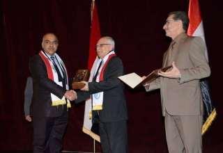 تكريم الجامعات والمراكز البحثية والتدريسيين والباحثين الفائزين بجوائز يوم العلم