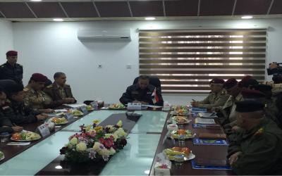 العبيدي يتفق مع القادة العسكريين على ايجاد ممرات امنية لاخراج المدنيين خلال عملية تحرير نينوى
