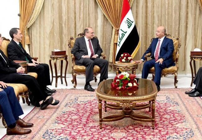 رئيس الجمهورية يبحث تنشيط الاقتصاد العراقي مع وزير الخزانة الامريكي