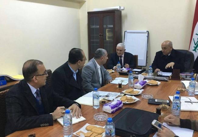 وزير النقل يبحث مع شركة متخصصة انشاء خط سكة مسيب- كربلاء -النجف بطول 80 كم