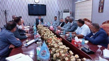 عبطان يعقد اجتماعا موسعا مع ممثلية اللجنة الاولمبية في البصرة والاتحاد الفرعي ومديرية الشباب