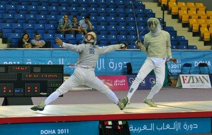 العراق يحقق الوسام الذهبي في بطولة العرب بالمبارزة للبراعم والاشبال