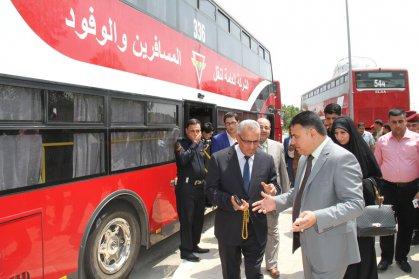 نائب محافظ ذي قار يعلن  وصول ست حافلات ذات الطابقين  الى المحافظة