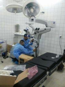 تنصيب جهاز لإجراء عمليات جراحة العيون في مستشفى الشهيد محمد باقر الحكيم العام