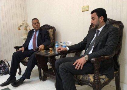 عبطان يبحث مع ممثل الجامعة العربية تعزيز مشاركة العراق بالأنشطة الشبابية