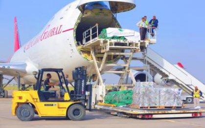 مطار بغداد يعلن البدء بنقل المساعدات السعودية من المطار بعد استكمال الاجراءات الكمركية