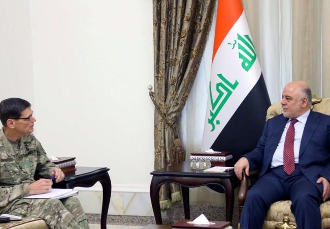 جنرال أمريكي للعبادي: مستعدون لتوفير كل ما يحتاجه العراق لاستمرار انتصاراته