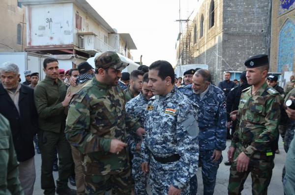 وزير الداخلية يتفقد القطعات الامنية في سامراء