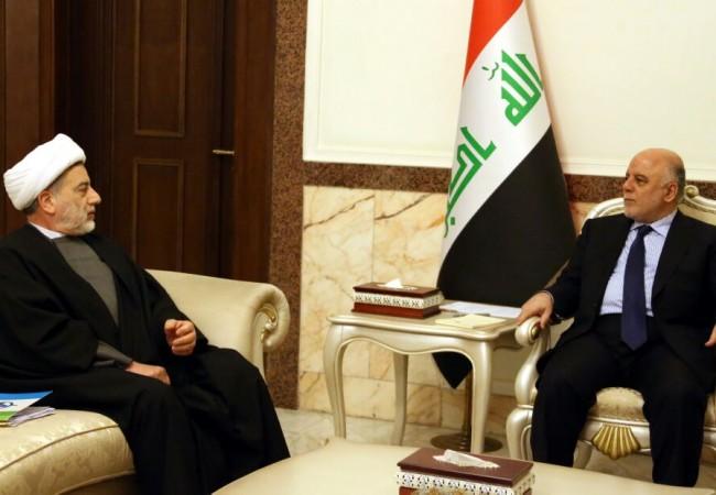 العبادي والشيخ حمودي يبحثان الحرب ضد داعش والتسوية الوطنية والاوضاع السياسية