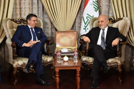 السفير الايطالي للجعفري: نعتزم تقديم تقرير لترميم زقورة أور