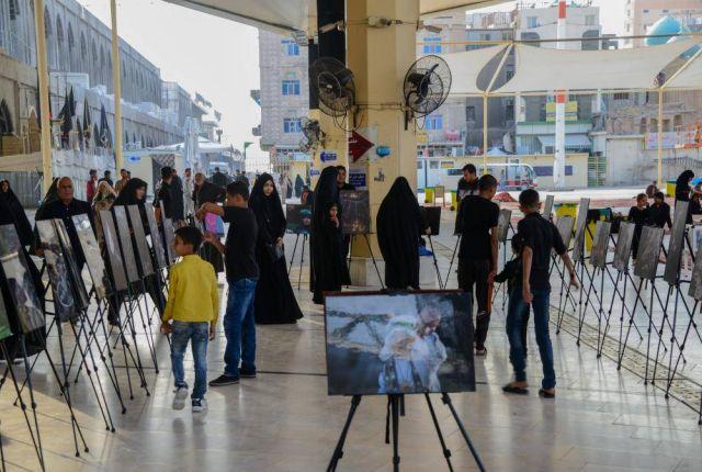قسمُ ما بين الحرمين الشريفين يُقيمُ معرضاً للصور في جوار مرقد أمير المؤمنين(عليه السلام)