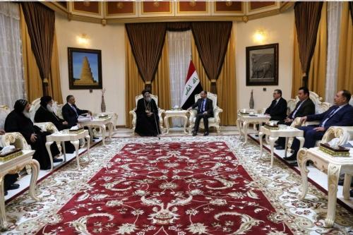الجبوري لوفد قبطي مصري: الإسلام براء من أفعال الارهابيين تجاه المسيحيين