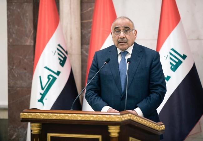 عبد المهدي : تحركنا نحو التهدئة لتجنيب العراق تداعيات التصعيد في المنطقة