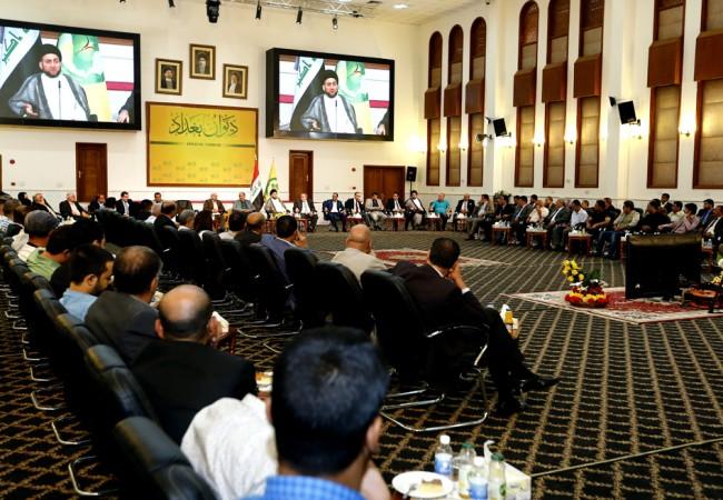 السيد الحكيم: نعلن مساندتنا الكاملة لرئيس الوزراء في تنفيذ توصيات المرجعية الدينية