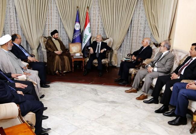 السيد عمار الحكيم يبحث مع الجعفري تطورات الأوضاع السياسية في العراق والمنطقة