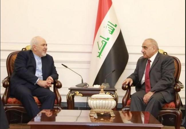 عبد المهدي يستقبل ظريف ويؤكد اهمية الأمن والاستقرار في المنطقة