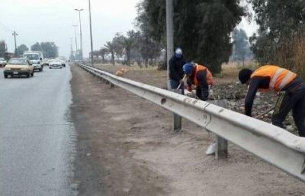 اطلاق حملة كبيرة لتنظيف طرق المرور السريع في بغداد