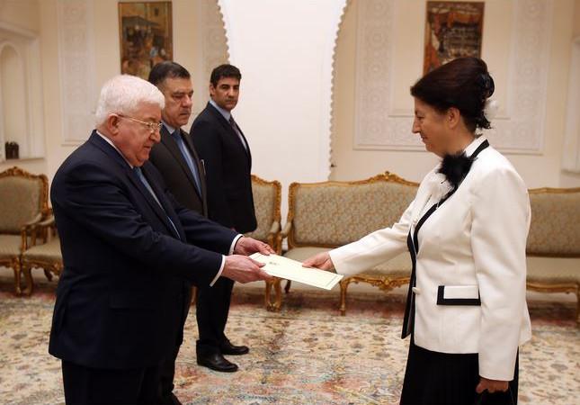 رئيس الجمهورية يتسلم أوراق اعتماد سفيرة قبرص الجديدة