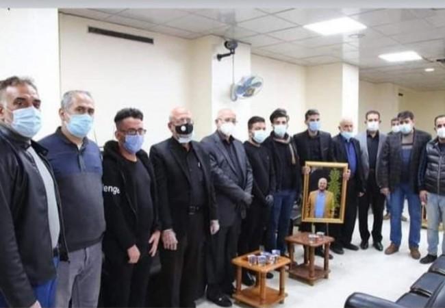 مستشفى ابن الهيثم للعيون يقيم مجلس عزاء تخليدا لذكرى احد منتسبيها الذي توفي جراء جائحة كورونا