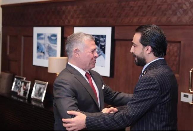 رئيس مجلس النواب يلتقي ملك الأردن