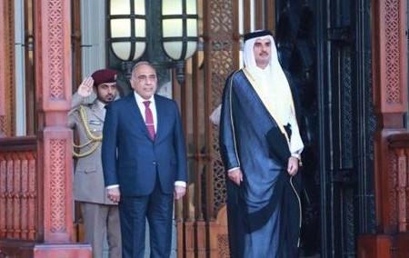 عبد المهدي يبحث مع امير دولة قطر قضايا المنطقة والتعاون المشترك