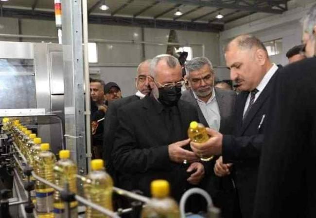 وزير الصناعة يفتتح  معمل المنتجات الاسفلتية في ميسان