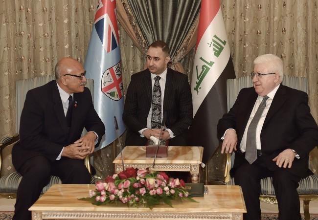 الرئيس الفيجي يؤكد لمعصوم وقوف بلاده مع العراق بالحرب ضد داعش