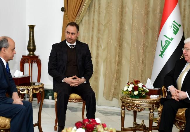 رئيس الجمهورية يؤكد رغبة العراق لتطوير علاقاته مع أسبانيا