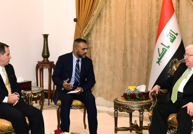 معصوم يبحث مع جونز التعاون المشترك لمحاربة داعش