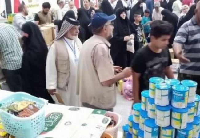 العتبة العبّاسية المقدسة تفتتح سوقاً خيريّاً لدعم عوائل الشهداء والمتعفّفين مجاناً
