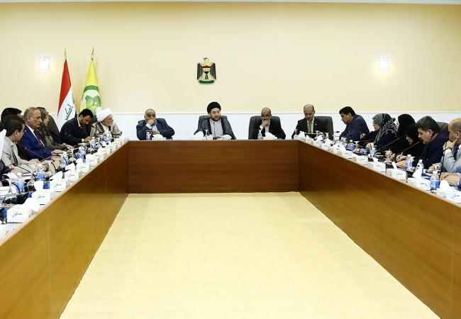السيد عمار الحكيم يدعو الى تشريع القوانين التي تصب بمصلحة المواطن بشكل مباشر ودعم الحشد الشعبي