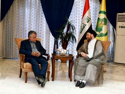 السيد عمار الحكيم يناقش مع العامري مجمل التطورات السياسية والانتصارات على داعش