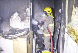 الدفاع المدني تخمد حريقا نشب بمحل للذهب في البصرة