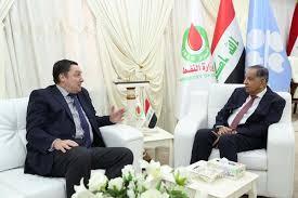 وزير النفط يستقبل السفير البريطاني في بغداد