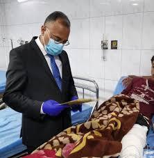 مدير صحة الرصافة يزور مستشفى الكندي  بعد اعادتها لاستقبال الحالات المرضية