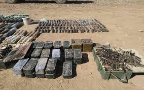تدمير انفاق والاستيلاء على اسلحة متنوعة لداعش غرب الانبار