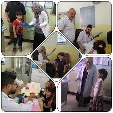 الفرق الصحية في قطاع الاستقلال يستمر بحملات  فحص العيون لطلبة المدارس