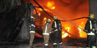 حريق هائل في «حارة اليهود» وسط القاهرة